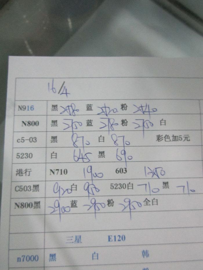 2012年4月20日诺基亚水货港行手机报价